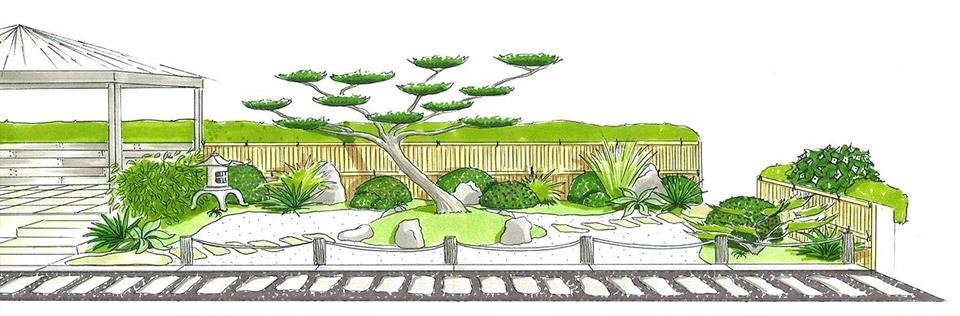 Dessin Jardin Zen